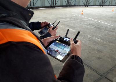 POEC 2019 découverte du télépilotage de drones aux partenaires